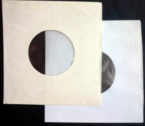 """Sleeve City USA anti-atatic polylined 7"""" 45 paper sleeves. 25 years old & new"""