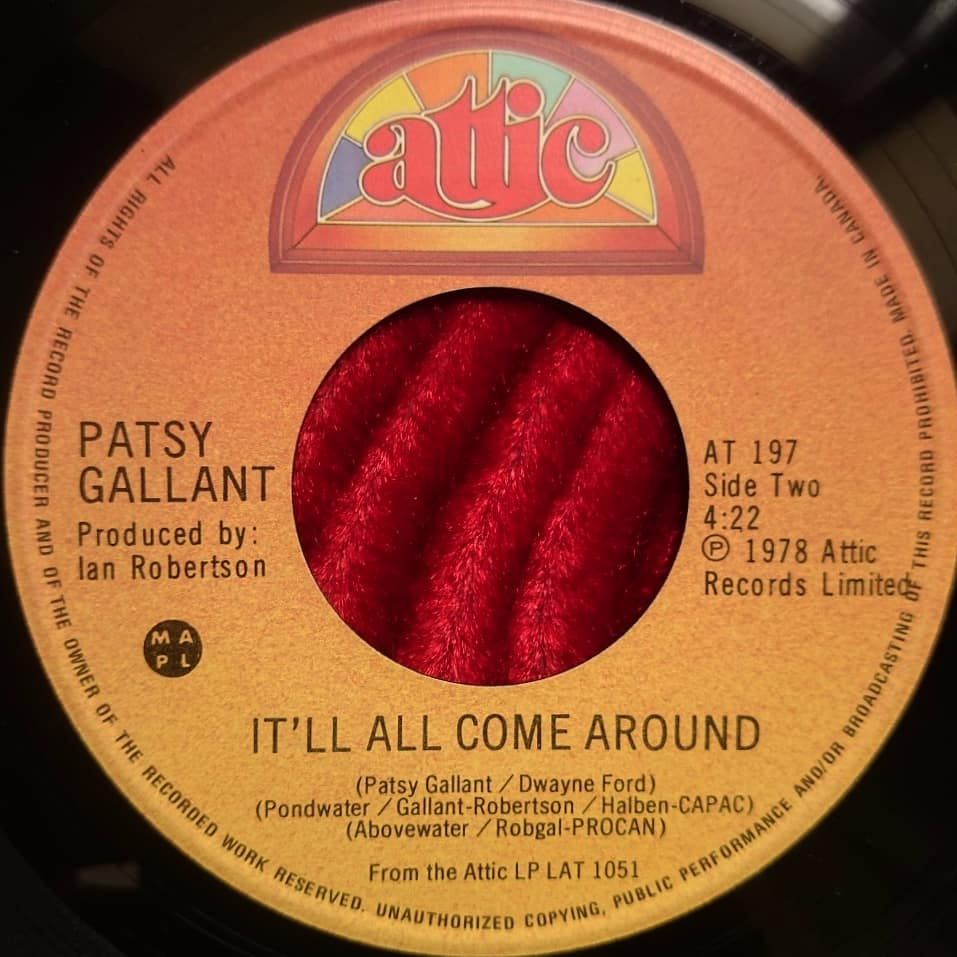 Patsy Gallant - It'll All Come Around - Attic Records - 1978 - Florian Keller - Funk Related