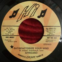 Africano – Satisfactorize Your Mind