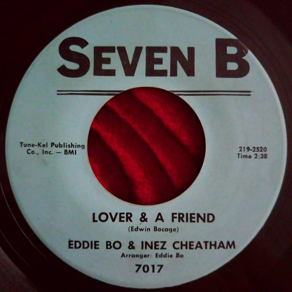 Eddie Bo & Inez Cheatham ‎– Lover & A Friend - Florian Keller - Funk Related
