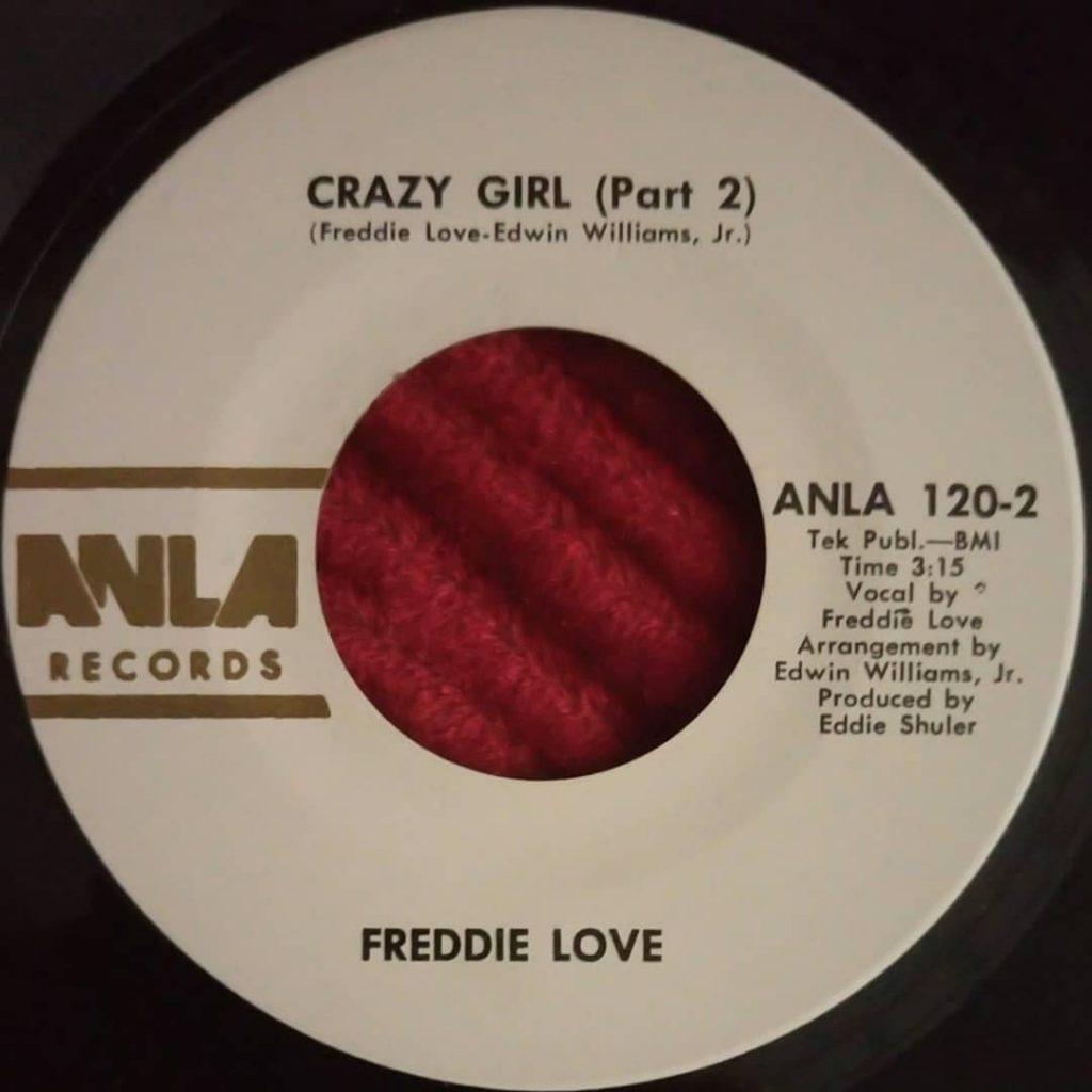 Freddie Love – Crazy Girl Pt. 2 - Anla Records - Funk 45 -Florian Keller - Funk Rellated
