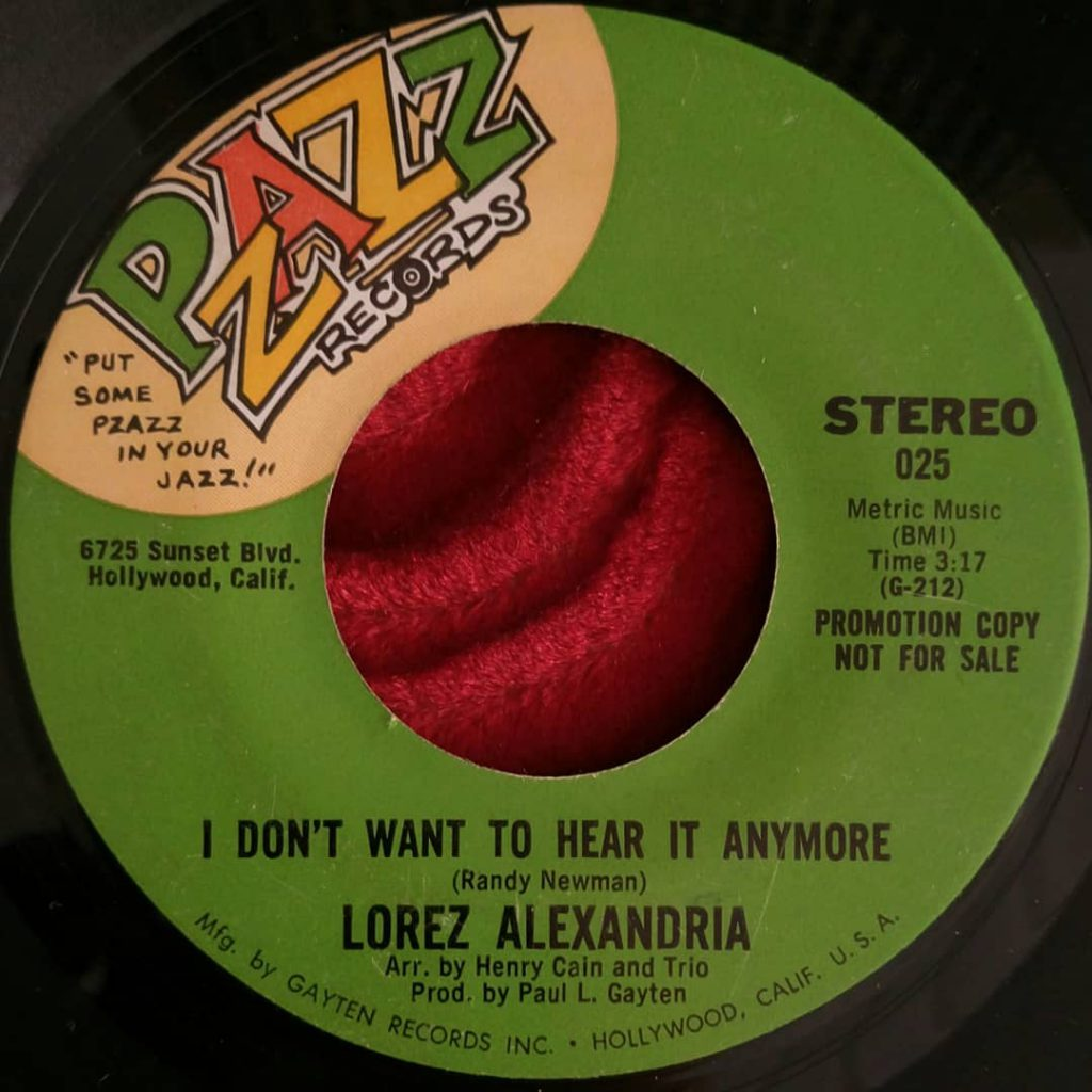 Lorez Alexandria - I Dont Want To Hear It Anymore - Florian Keller - Funk Related